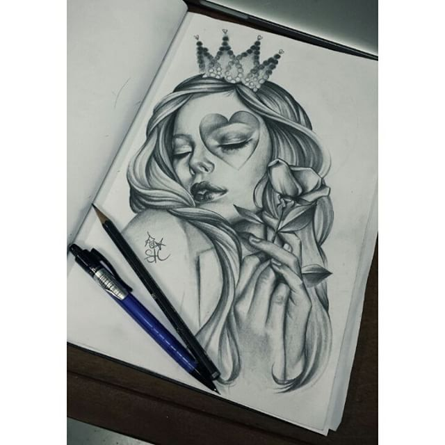 Realistic Sketch From Roza Black Grey Realistic Realism Pencil Paper Portrait Sketch Drawing Design Realistic Drawings Tattoo Drawings Drawings