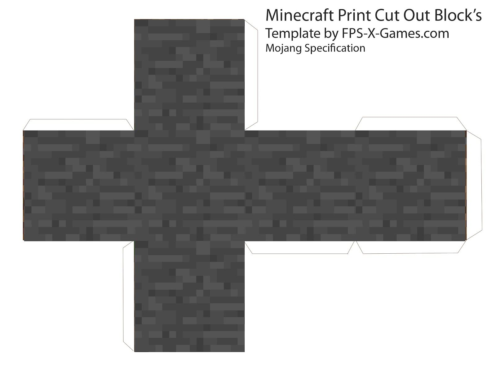 Minecraft print cut out block 1 600 1 206 for Minecraft cut out templates