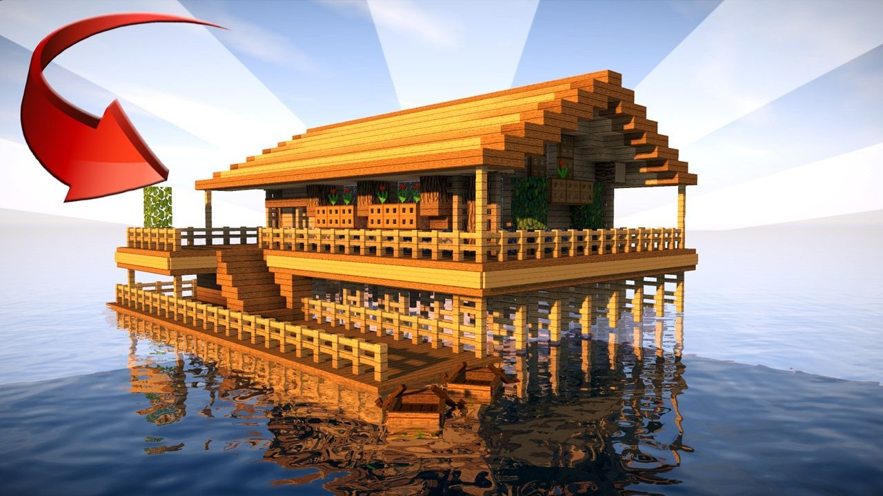 STARTER HOUSE IN MINECRAFT on the Water