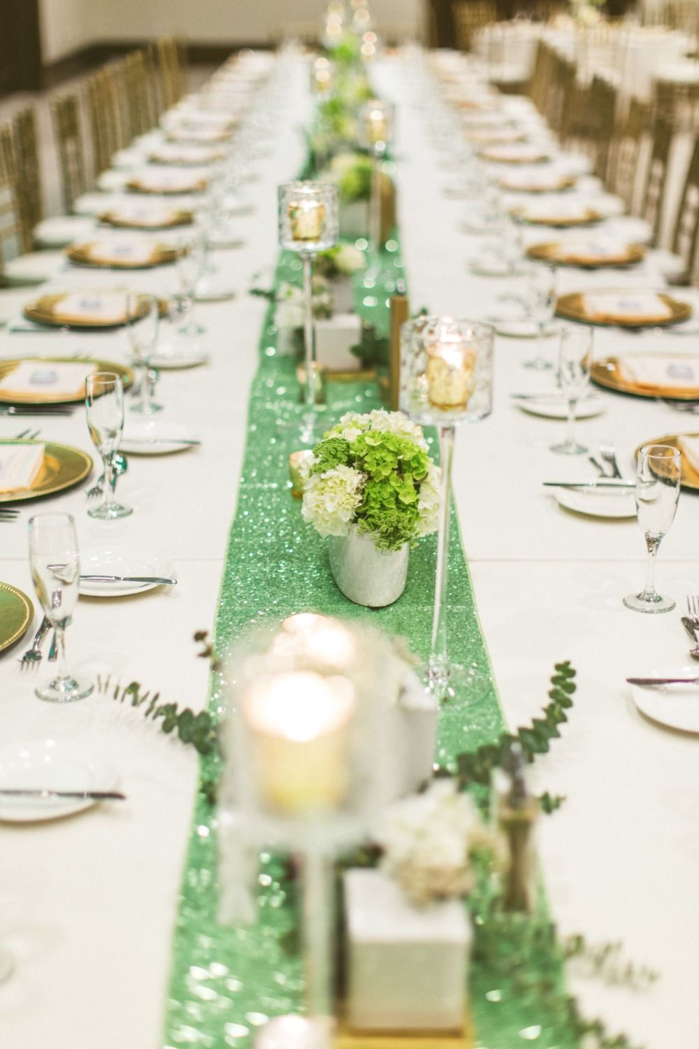 Teal Mint And Gold Modern Wedding Teal Table Green Table