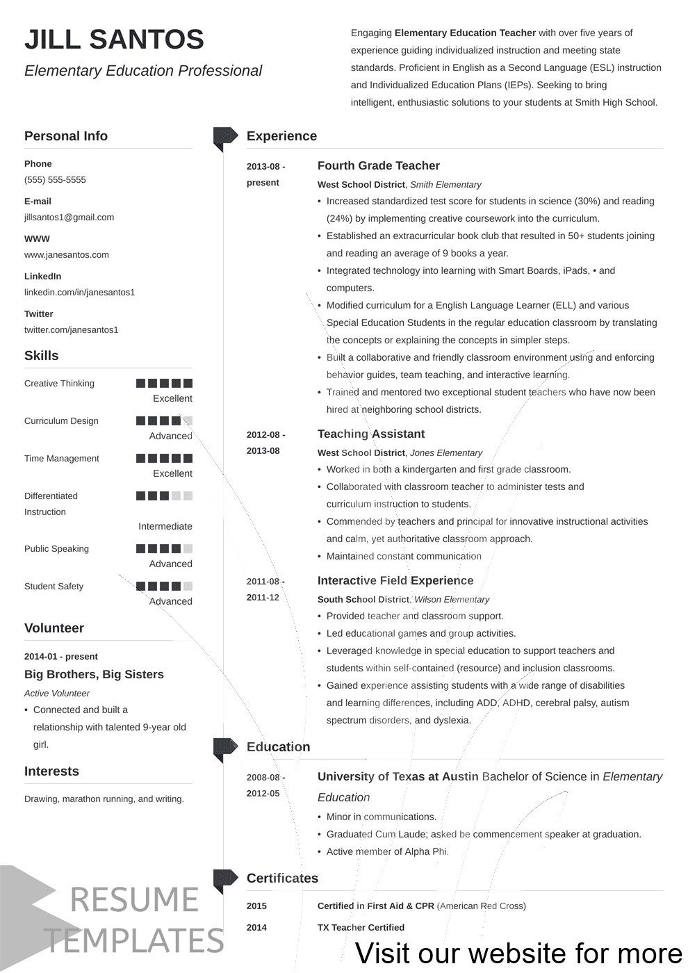 Best cv resume template psd in 2020 Resume template