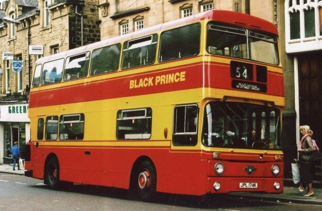 Black Prince Jpl174k Leyland Atlantean Park Royal Bus Photo Ebay