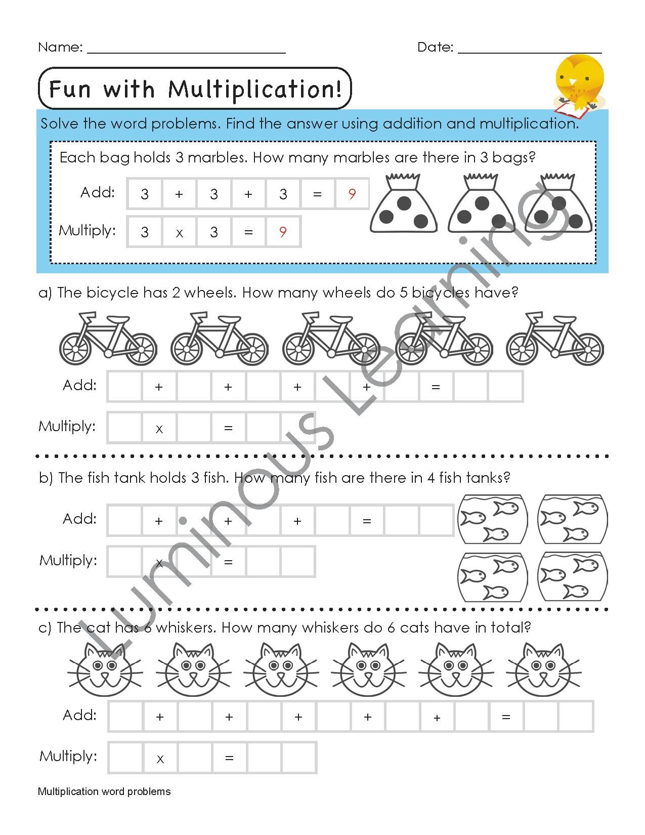 Luminous Learning Grade 3 Multiplication Workbook Is