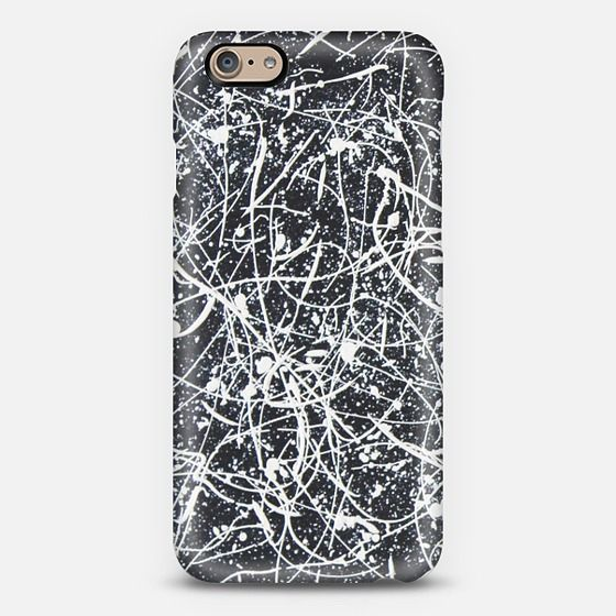 """""""WHITE ON BLACK"""" phone case. Available for different types of phones."""