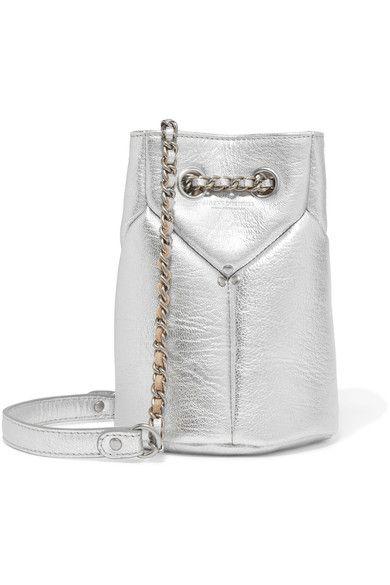 c839451a98 JÉRÔME DREYFUSS Popeye mini metallic textured-leather bucket bag.   jérômedreyfuss  bags  leather  hand bags  bucket  metallic