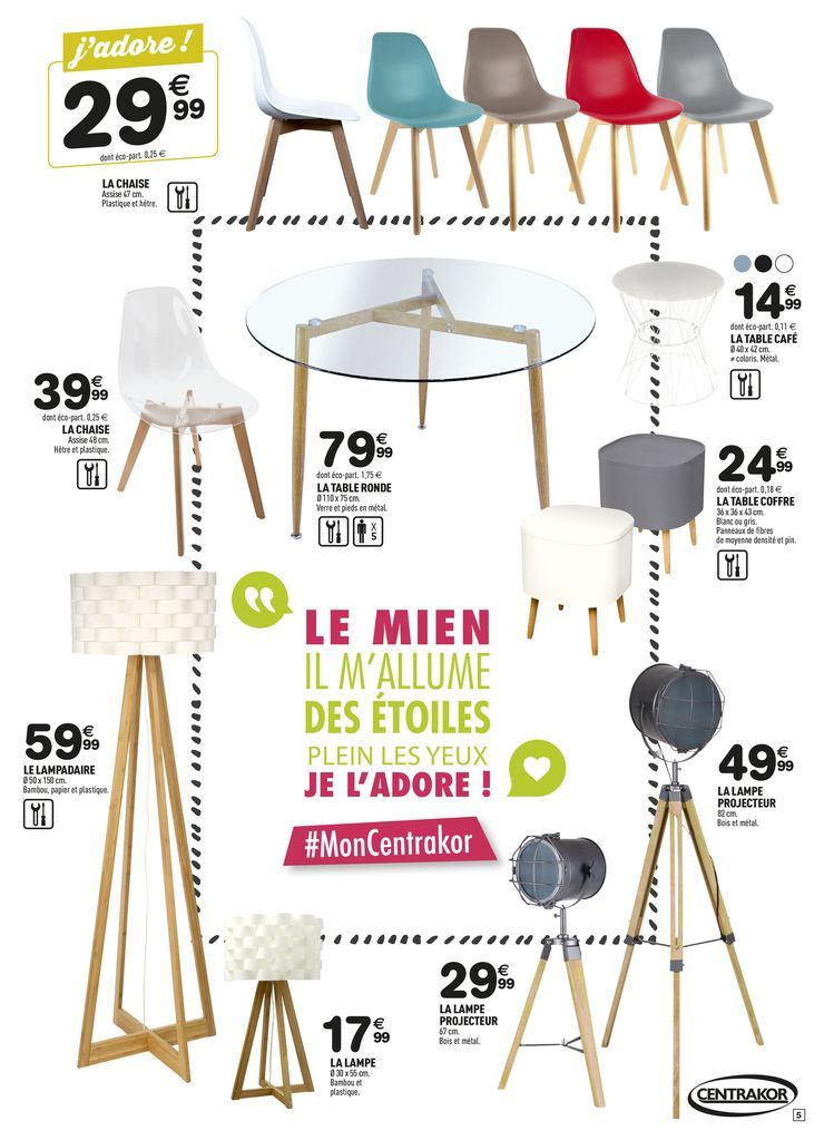 CENTRAKOR - Chaises à 29,99€ | ♥ New flat ♥ | Chaise