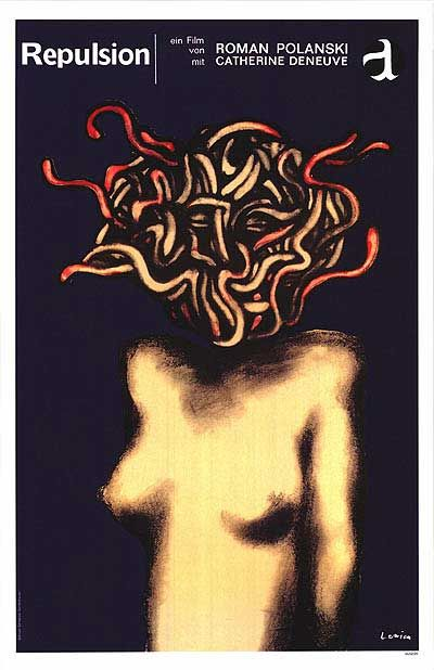 German poster for Repulsion (1965)  by Jan Lenica