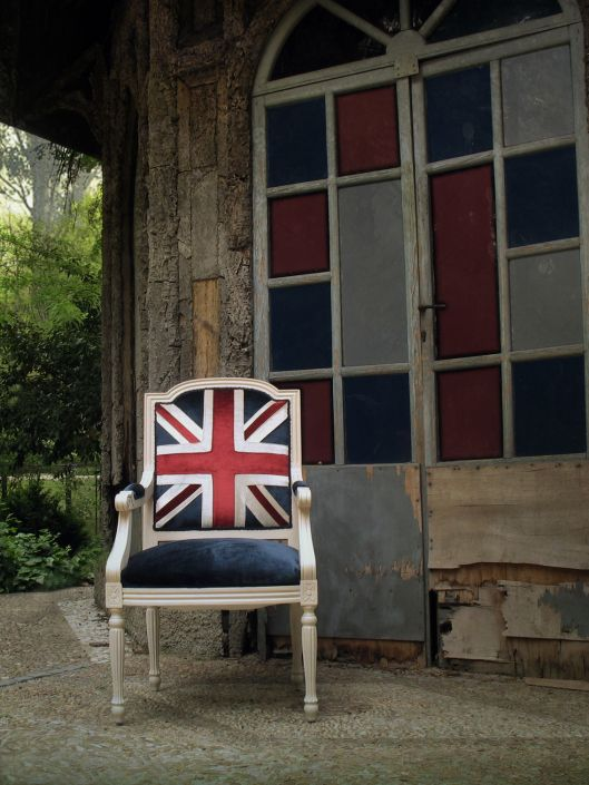 Silla luis xvi casita 2 union jack decor pinterest - Sillas luis xvi ...