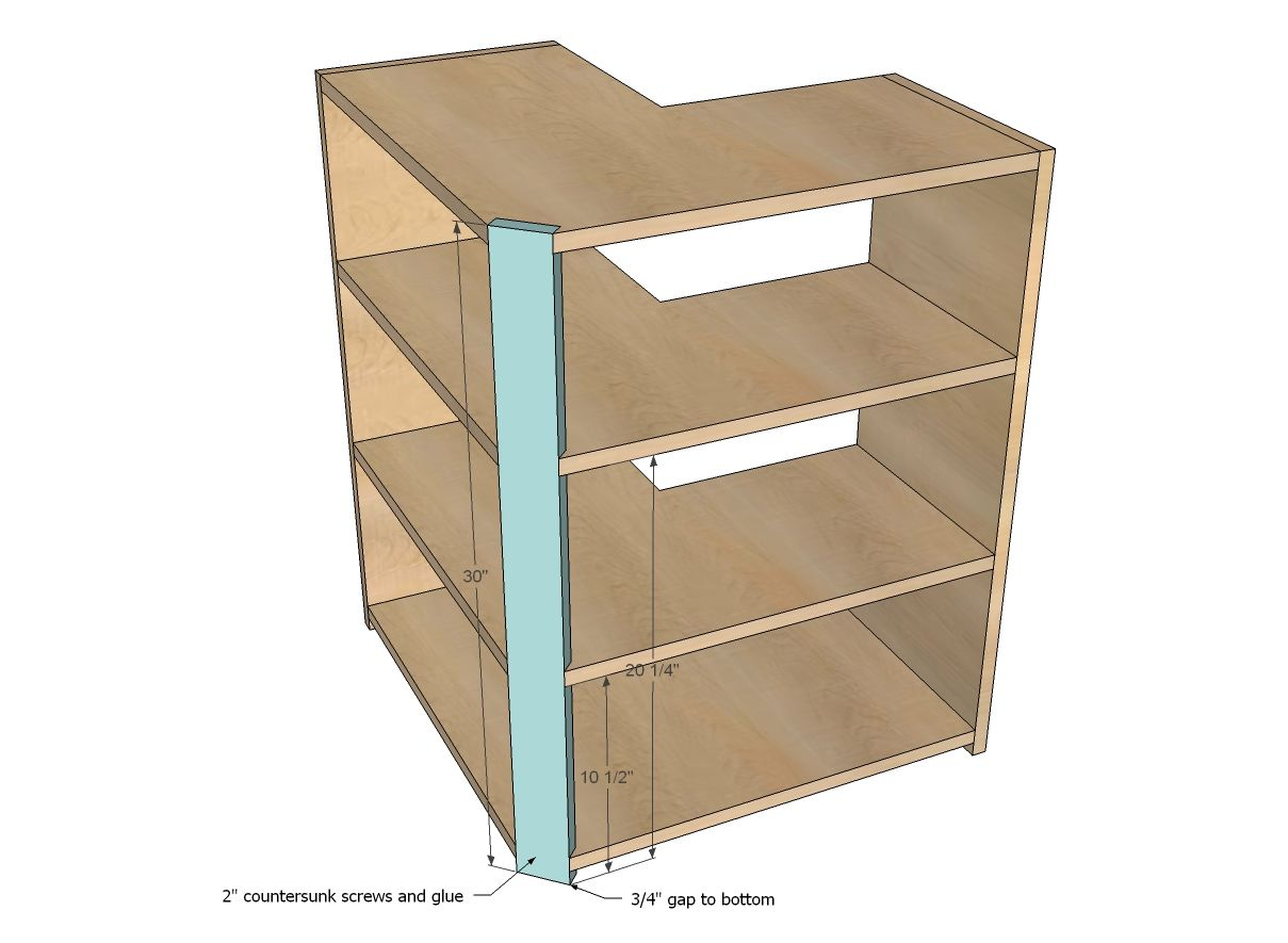 Ana White | Build A Wall Corner Pie Cut Kitchen Cabinet | Free And Easy DIY