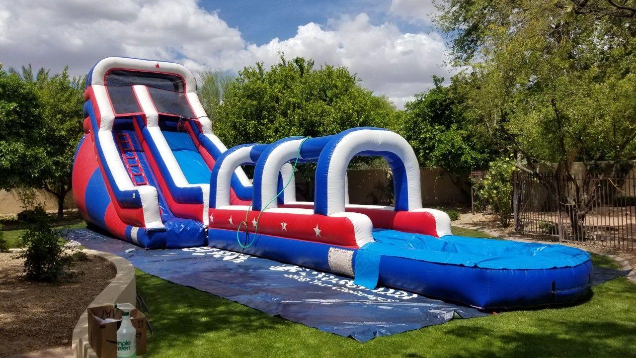 Inflatable 20 ft tall water slide rental in phoenix az