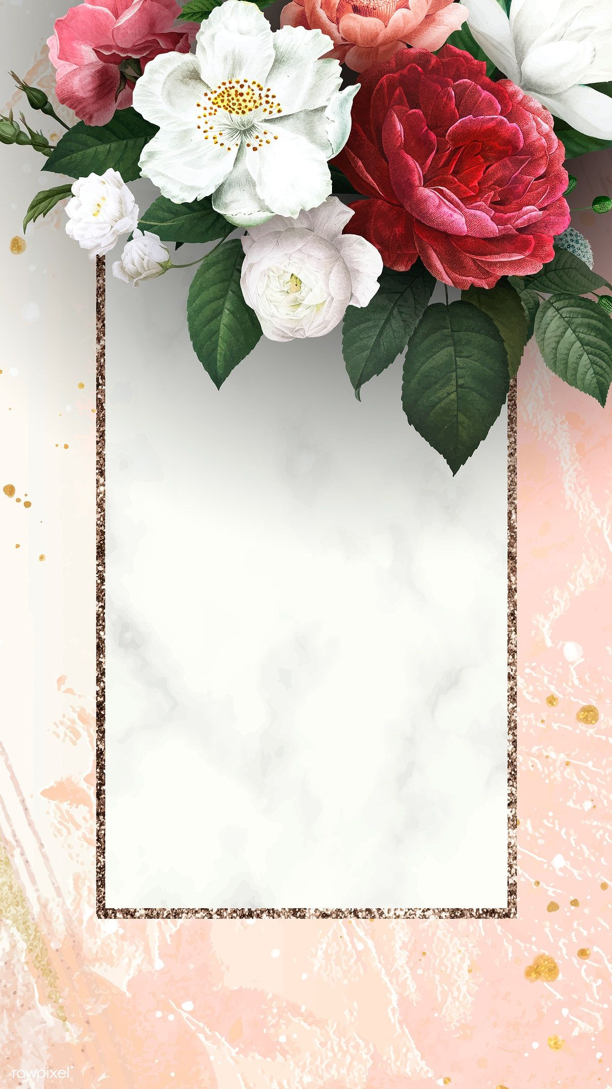 Pin By Yellow Flower On مطويات In 2021 Peach Background Floral Poster Flower Frame