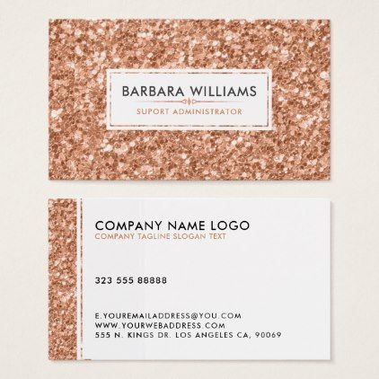 Simple modern white rose gold faux glitter business card custom simple modern white rose gold faux glitter business card custom diy cyo personalize gift idea diy customize pinterest reheart Image collections