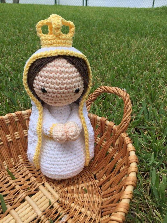 PATTERN /PATRÓN Instrucciones para hacer Virgen de Fátima DIY Hazlo tu misma Para Bautizo, Primera Comunión, baby Catholic gift