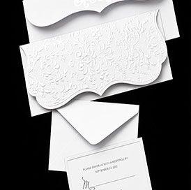 White Pearl Folded Wedding Invitations  Beautiful Invites