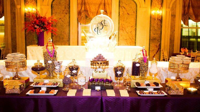 indian wedding themed dessert table