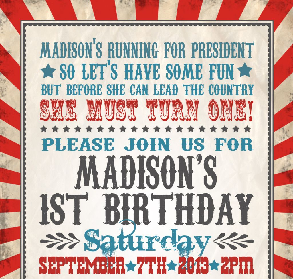 Madison\'s Presidential First Birthday Party | Themed birthday ...