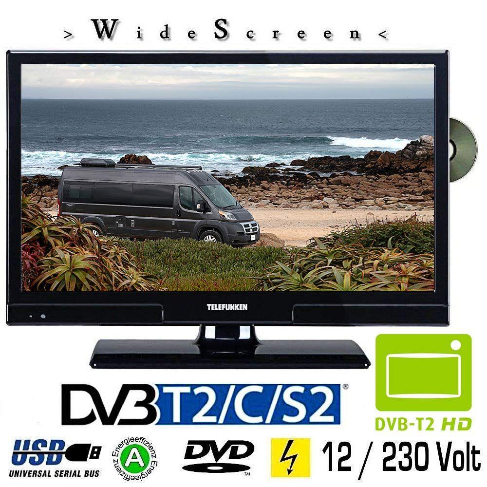 Telefunken L20h270k4dvi Led Tv 20 Zoll Dvb S S2 T T2 C Dvd Usb 230 12 Volt In 2020 Led Tv Led Dvd