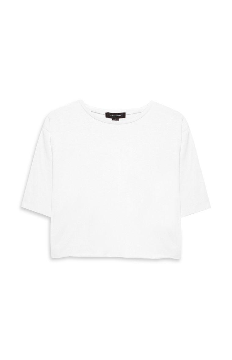 6dfaf3db7445 Primark - White Loose Crop Top