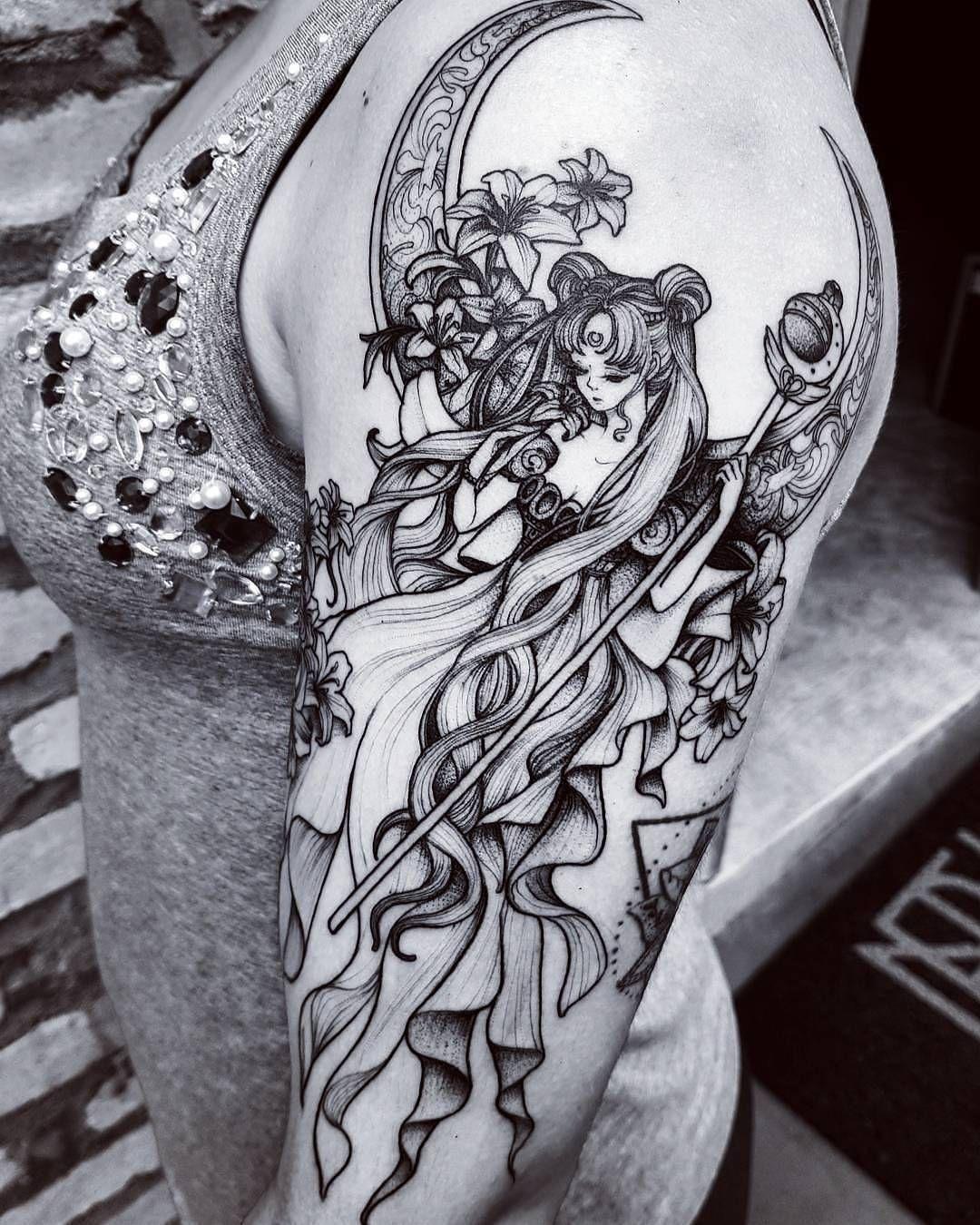 77 Anime Tattoo Ideas that Trending Nowadays Sailor moon