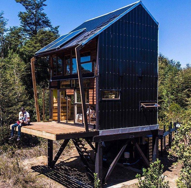Book Of Cabins On Instagram Zerocabin An Off Grid Cabin 25 Sqm 8 Sqm Terrace In Frutillar Chile It S Available As A Off Grid Cabin Cabin Cabin Kits