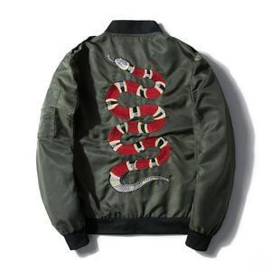 aad5fdbcd Gucci Snake Bomber Jacket   Diamonds Drip Apparel   Men's coats ...
