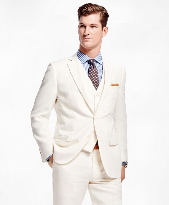 Fitzgerald Fit Three-Piece Linen Suit | Linen suit