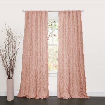 Lush Decor Lake Como Window Curtain Panel, 84 by 50-Inch, Peach