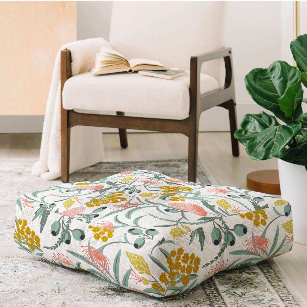 Boho Floor Pillow Floor Cushion Meditation Pillow Floor