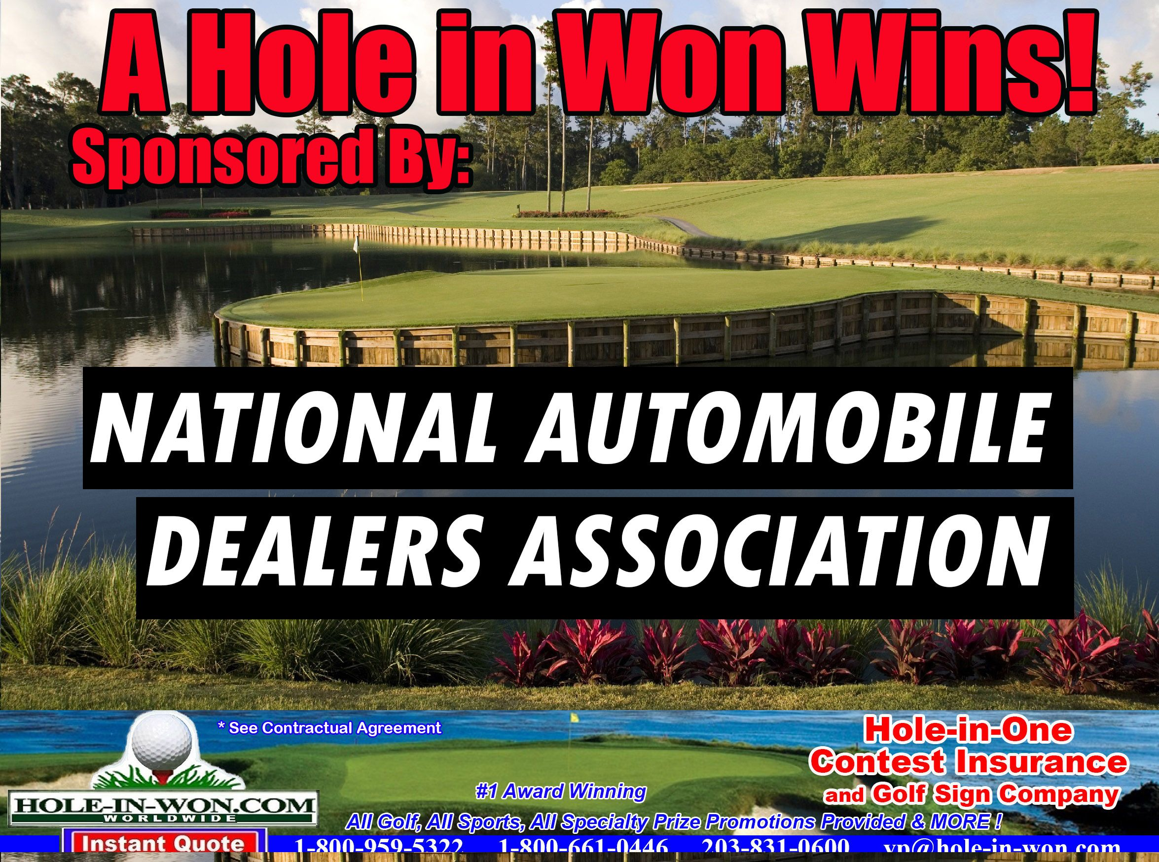 Auto Dealer Association Promotions Hole In One Insurance All