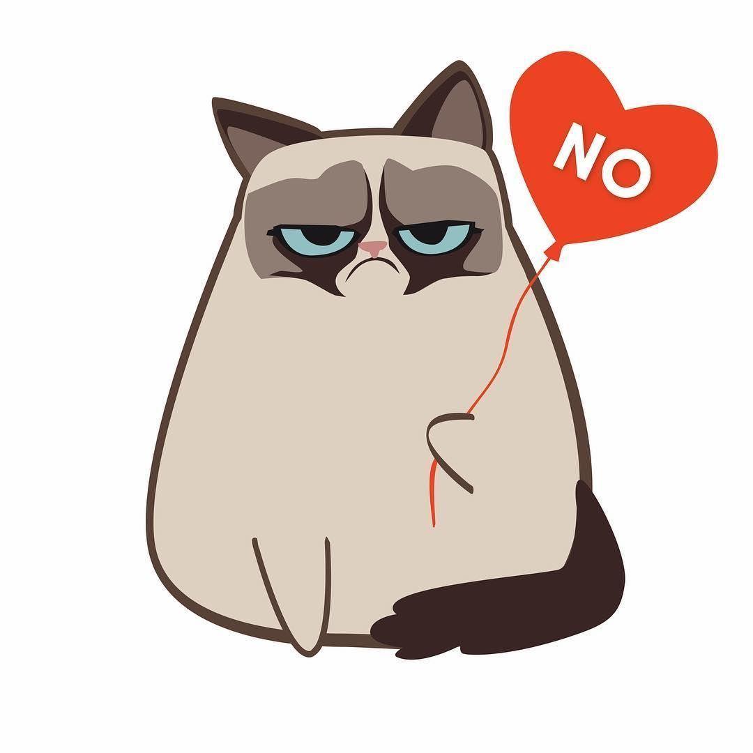 Grumpy Cat On Valentine S Day Cutecat In 2020 Grumpy Cat Cartoon Grumpy Cat Valentines Grumpy Cat Breed