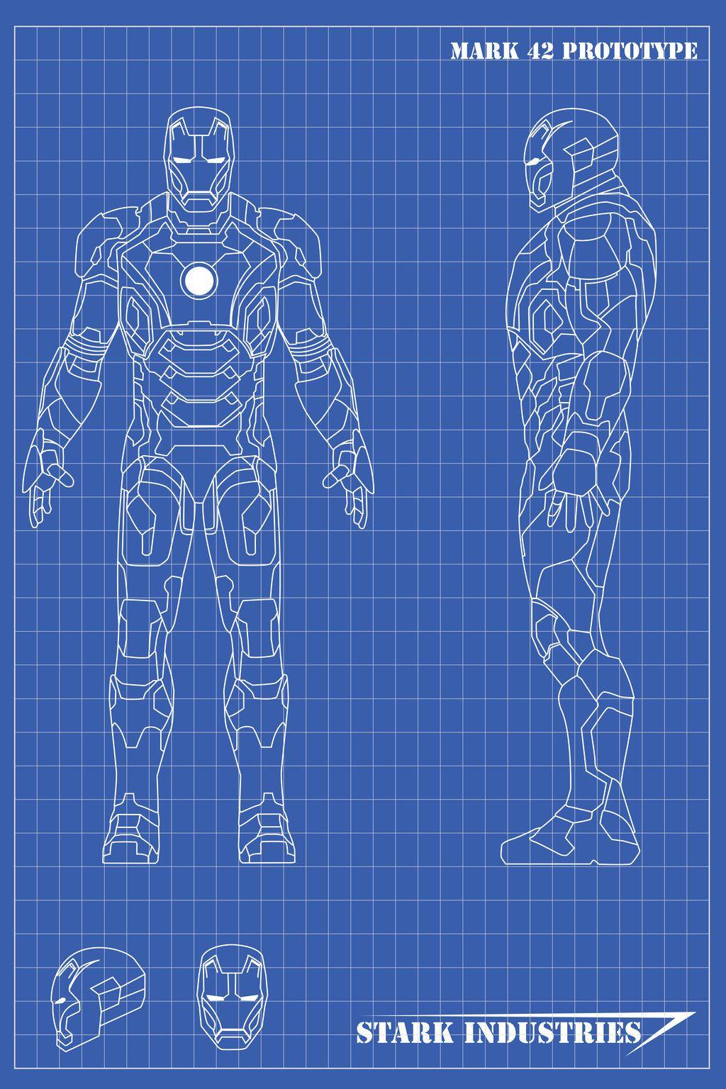 Iron Man Blueprints Mk42 By Nickgonzales7 Deviantart On
