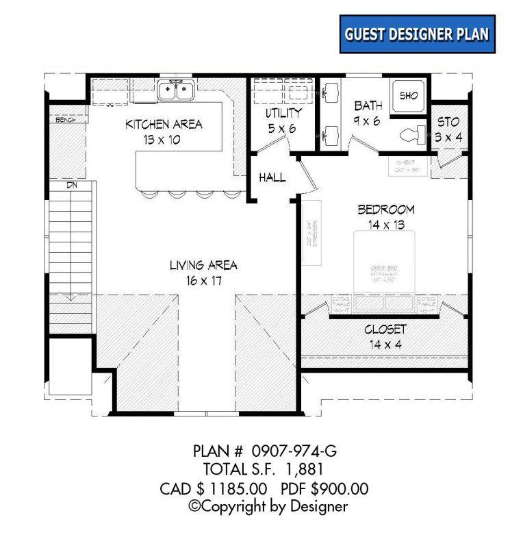 Garage Plan 37 199 Garrell Associates Inc Garage Plan Garage Floor Plans Carriage House Plans