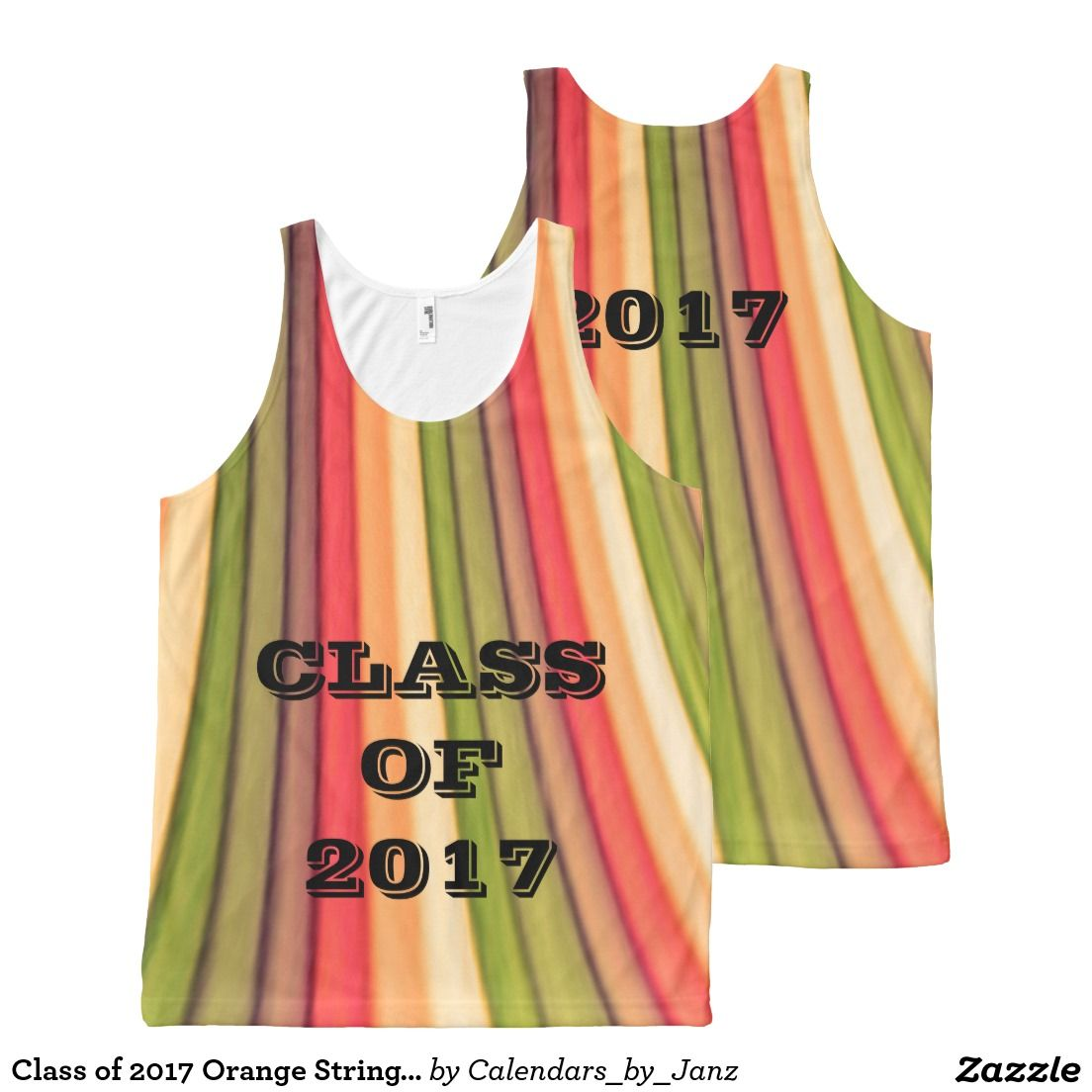 Class of 2017 Orange Strings Tank Top by Janz All-Over Print Tank Top