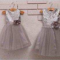 Lovely Girl's Pageant Dresses for Little Girls,Real Picture Sequin Flower Girl Dresses for Wedding
