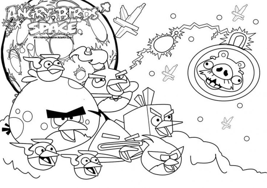 Funny coloring pages of Angry Birds Space for kids   Fun Coloring ...