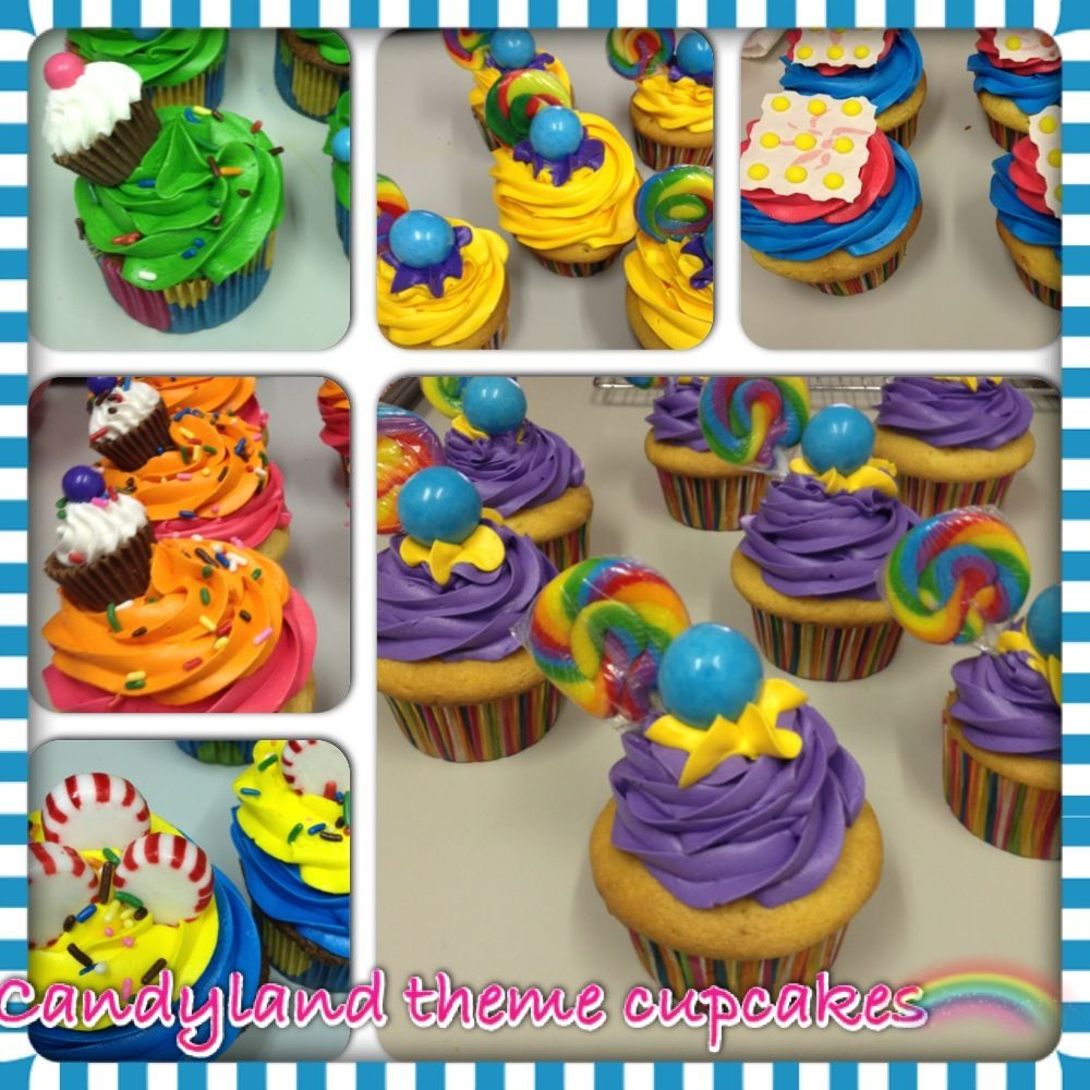 Candyland cupcakes | Abigail\'s 1st birthday party ideas | Pinterest