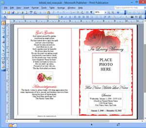 microsoft publisher program template
