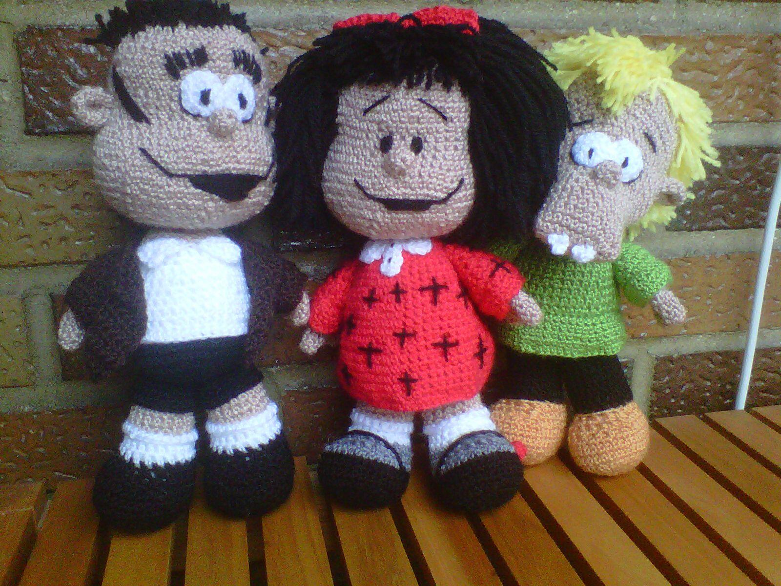 Amigurumi Crochet Personajes : Manolito mafalda y felipe amigurumis personajes
