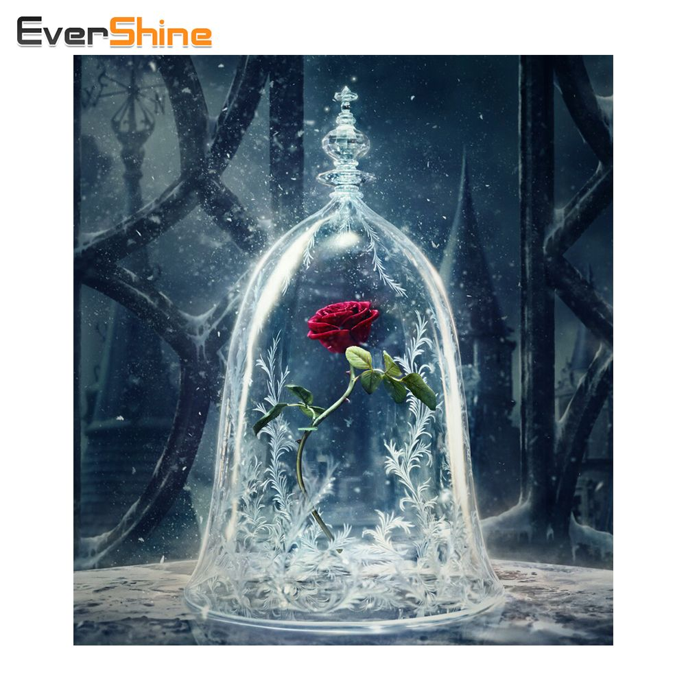 5d Diamond Painting Rose Cross Stitch Handicrafts Full Resin