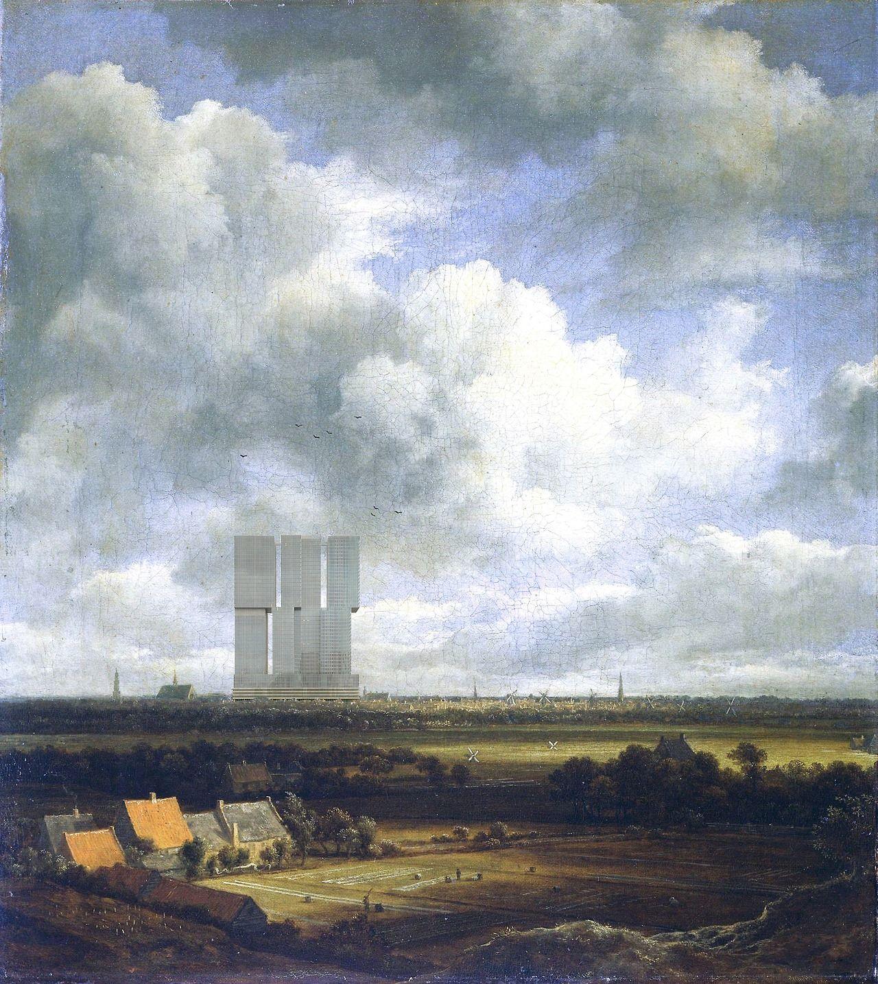 Alles ist Kontext (depends on the context),  View of Haarlem,  Jacob Isaacksz van Ruisdael, c. 1670 (The Rotterdam by Rem Koolhaas) (c)Davide Tommaso Ferrando 1,280×1,435 pixels