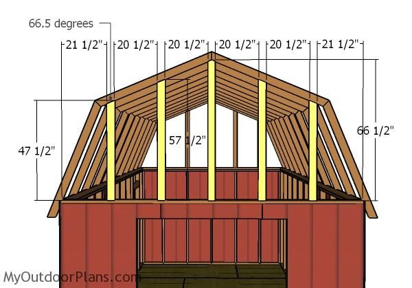 Building A 12x20 Gambrel Shed 12x20 Shed Plans Diy Shed Shed Plans