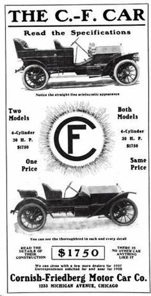 1908 C. F. Automobile Advertisement