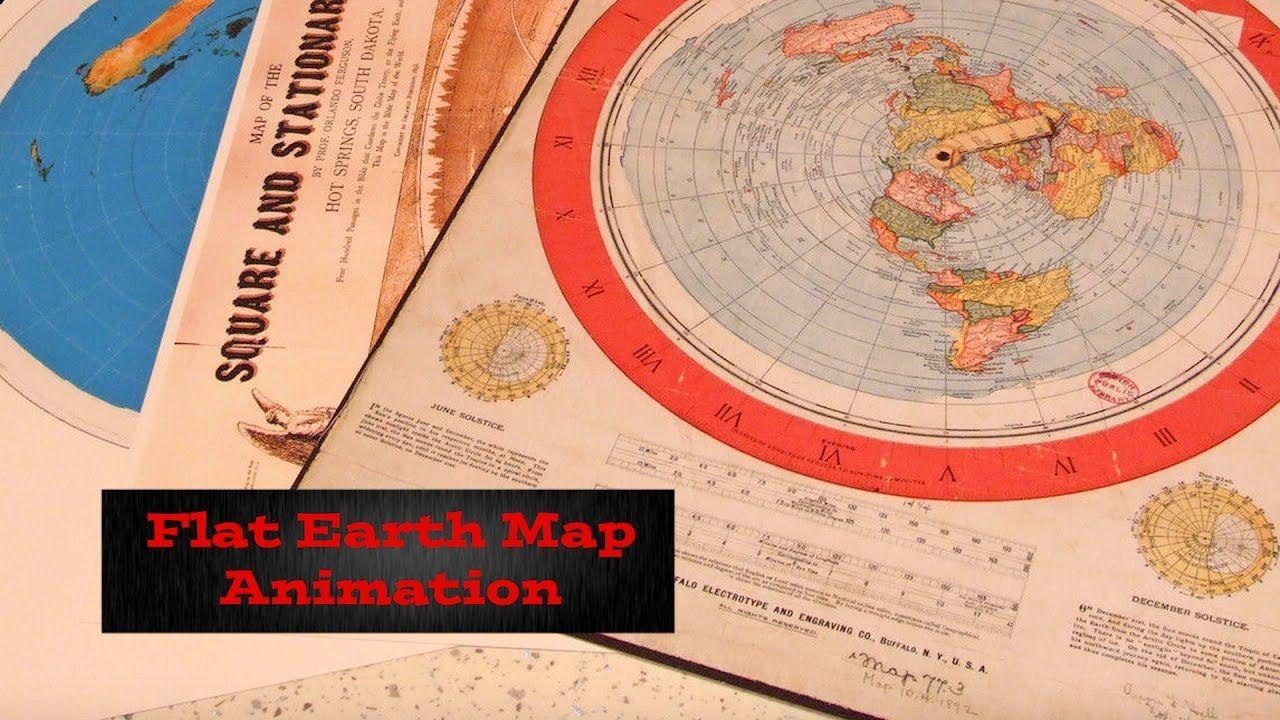 Flat Earth Map Animation Slower