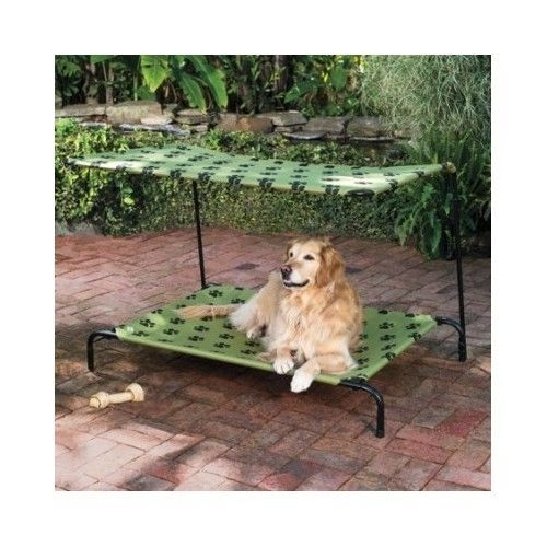 PET SUN SHADE Dog Bed Canopy Portable Elevated Cot Indoor Outdoor ...