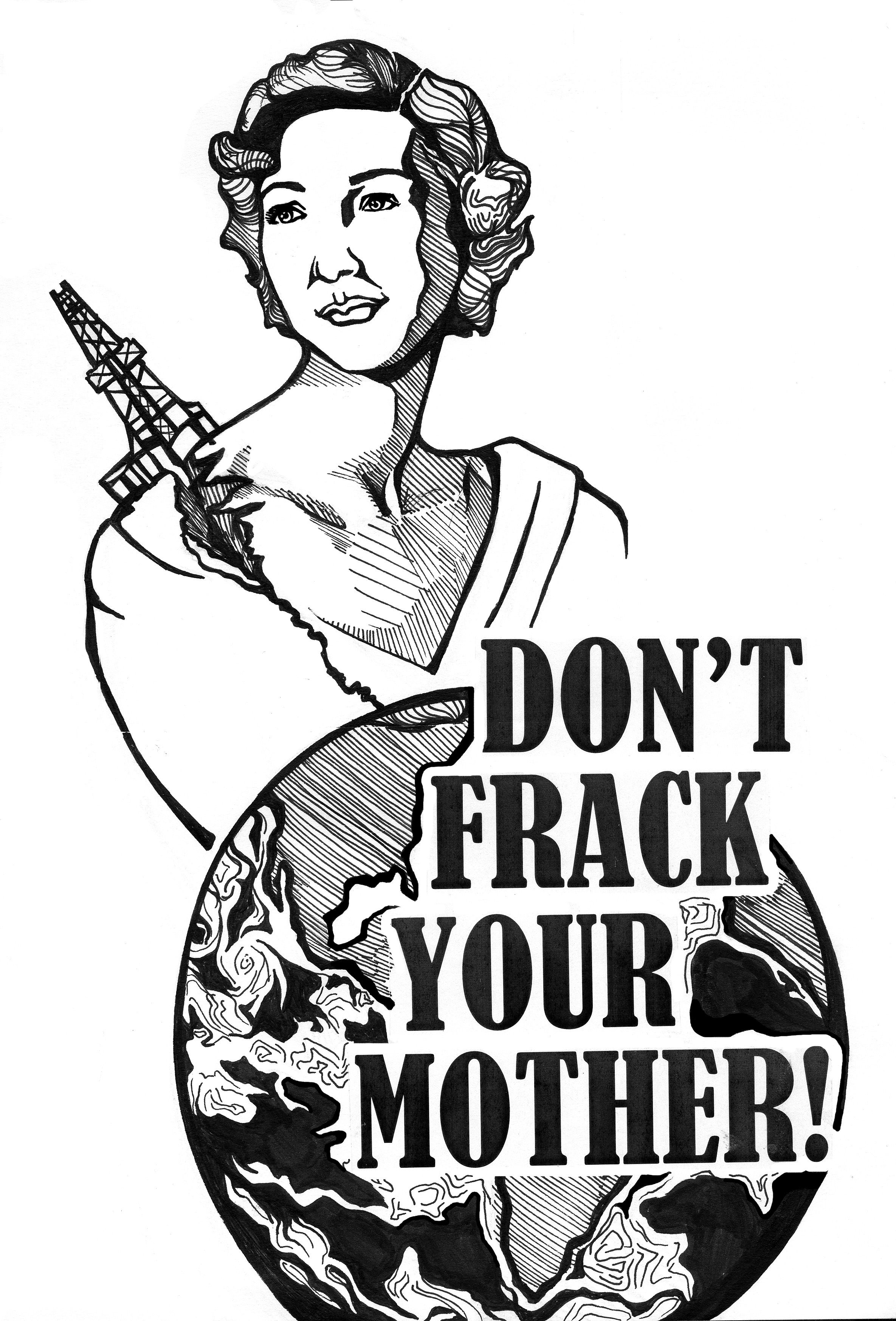 Earthworks Hydraulic Fracturing 101 Ecofeminist Protest Posters International Womens Day