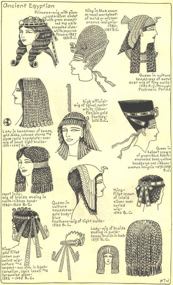 Egypte Antique Coiffure 22 Art Kmt Egyptian Hairstyles Egypt Et