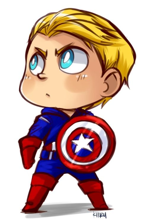Kawaii Captain America Marvel Pinterest Capitan America
