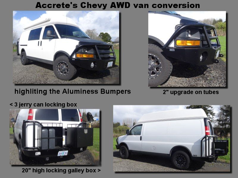 Gm Fullsize Awd Van Info Thread Page 8 Expedition Portal Alumness Front And Rear Bumpers Chevy Express Awd Vans