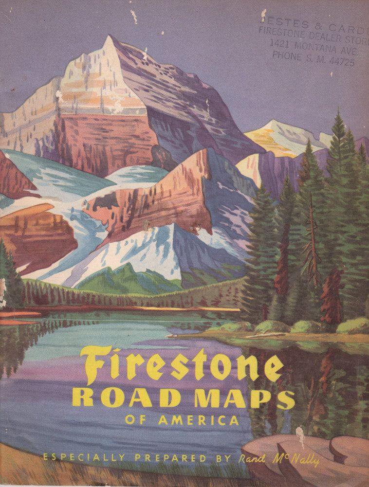 Firestone Road Maps Of America By Rand McNally Jestes Carde Dealer - Vintage road maps for sale