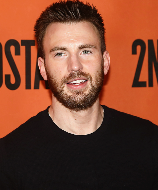 Chris Evans at the new broadway play